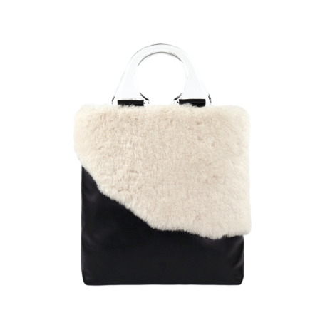 MWYW SHEEP FUR HANDBAG