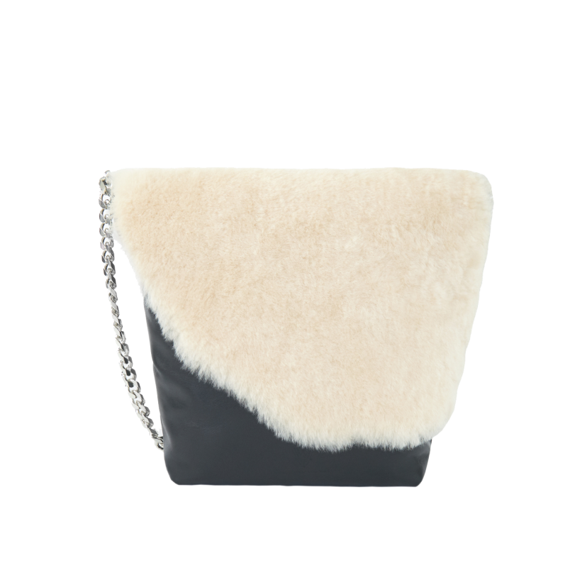 MWYW CHAIN BAG WITH FUR